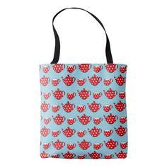 Spotty Teapot tote bag.