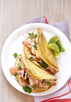 """""""Since there are few things I love more than Mexican food, I often drizzle grilled chicken with a creamy chipotle sauce and wrap it up in a tortilla. It's taco perfection.""""—Sunny Anderson"""