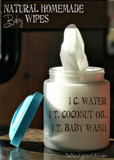 Homemade Baby Wipes. using coconut oil instead of rash creams can work wonders. Not to mention this is WAY cheaper!