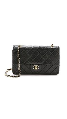 What Goes Around Comes Around Women's Chanel 10'' Shoulder Bag (Previously Owned), Black, One Size -- Want additional info? Click on the image.