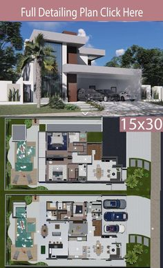 Modern Architecture House, Modern House Design, Architecture Design, Modern House Floor Plans, Dream House Plans, Model House Plan, Casas The Sims 4, Luxury Modern Homes, Architectural House Plans