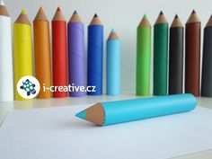 papírové pastelky - výzdoba do třídy Art Supplies, Preschool, Pencil, Classroom, Home Decor, Day Planners, Education, Class Room, Decoration Home