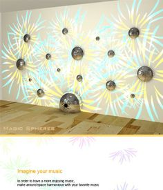 Magic Sphere Wall Speakers  They light up in sync with your music!