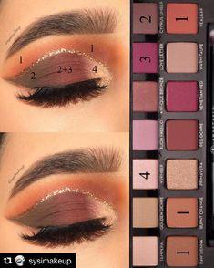 Pin von M Erika Zambrano auf Beauty-Tipps im Jahr 2019 Beauty Make-up Eye - - Makeup Goals, Makeup Inspo, Makeup Inspiration, Makeup Tips, Makeup Tutorials, Makeup Ideas, Fall Eyeshadow, Eyeshadow Makeup, Eyeshadows