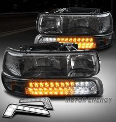 For 01-02 Chevy Silverado 3500 Upgrade Replacement Foglight Pair Lh Rh Smoke Len