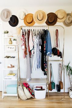 Never Guess What this Chic Loft was Before It Was Renovated where we share loads of small space and tiny house inspiration and decor tips!where we share loads of small space and tiny house inspiration and decor tips! Home Office Closet, Closet Space, Retro Home Decor, Diy Home Decor, Bedroom Layouts, Home Decor Bedroom, Bedroom Ideas, Girls Bedroom, Bedroom Designs