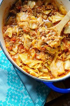 Unstuffed Cabbage Rolls.  To go the Weight Watchers route, omit the rice from the recipe.