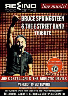 Noi siamo pronti a tornare...voi ci siete? Venerdì 19 settembre!!! Si riparte con un grande tributo a Bruce #Springsteen Il grande ROCK torna al Rewind  a #Tolentino !  -ore 23:30 Concerto JOE CASTELLANI & THE ADRIATIC DEVILS A seguire, after-show con Dj Set a cura del gruppo di animazione: Inventori Di Divetimento  Non mancate!