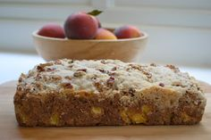 Menus and Meals for Moms: Georgia Peach Bread with Pecan Streusel
