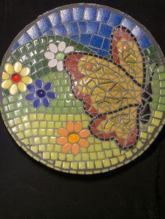 Mosaic Tile Table, Mosaic Birdbath, Mosaic Garden Art, Mosaic Tile Art, Mosaic Vase, Mosaic Diy, Mosaic Crafts, Mosaics, Mosaic Stepping Stones