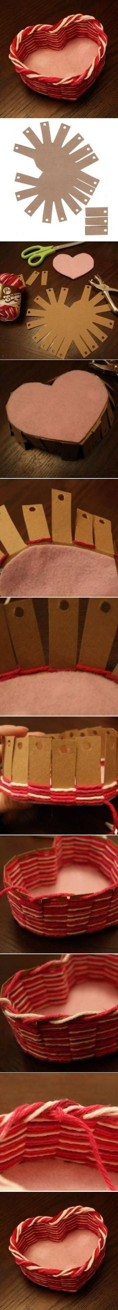 DIY Yarn Heart Box DIY Projects / UsefulDIY.com