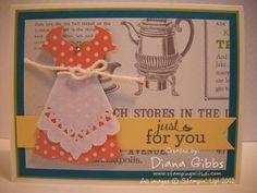 Stamp Set: Pop-Up Posies Designer Kit     Ink: Basic Gray     Paper: Island Indigo, Lucky Limeade, So Saffron, Tea for Two DSP, Very Vanilla     Misc: Pop-Up Posies Designer Kit, Artisan Embellishment Kit, Rhinestones, All Dressed Up Framelits