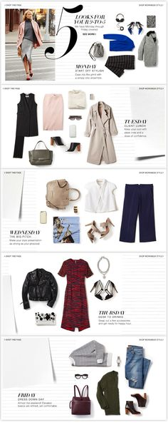 Shopbop – 5 Work Week Looks