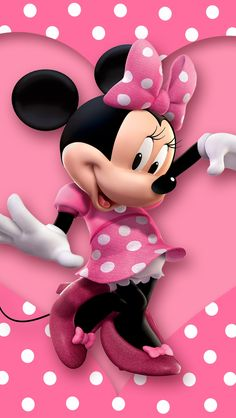 Cheap background vinyl, Buy Quality studio backdrop directly from China photo studio backdrop Suppliers: Minnie Mouse Pink Polka Dots Heart Love Custom Photo Studio Backdrops Backgrounds Vinyl x Minnie Mouse Drawing, Mickey E Minnie Mouse, Mickey Mouse Images, Minnie Mouse 1st Birthday, Mickey Mouse Cartoon, Minnie Mouse Background, Wallpaper Do Mickey Mouse, Handy Iphone, Wallpaper Iphone Neon