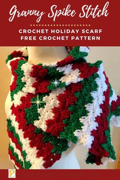 Christmas Crochet Blanket, Christmas Crochet Patterns, Holiday Crochet, Crochet Gifts, Christmas Afghan, Christmas Scarf, Crochet Mittens Free Pattern, Easy Crochet Patterns, Baby Knitting Patterns