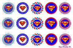 Superman bottle cap image. DO NOT SELL. Please enjoy for personal use only.