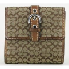 Coach Brown Mini Signature Wallet