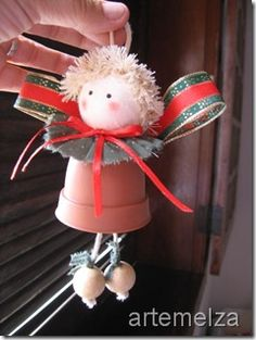 ARTEMELZA -  Arte e Artesanato: Enfeite de Natal - Sino   Christmas ornament - bel...