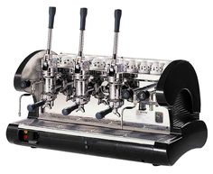 Commercial Pull Lever Espresso Machine 3 Groups (Black) -- Check out this great product.