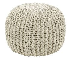 Home Discount Designer Brands - Up to off - BrandAlley Knitted Ottoman, Knitted Pouf, Pouf Ottoman, Floor Pouf, Floor Chair, Outdoor Pouf, Leather Pouf, Home Living, Living Room