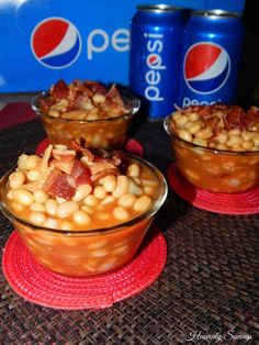 Easy Slow Cooker PEPSI Baked Beans! #GameDayGlory #ad