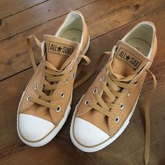 78a5f525837e Yellow Gold Converse All Star Sneakers Yellow Gold Converse All Star  Sneakers. Back of right shoe is a little dirty. (See last pic). This color  almost looks ...