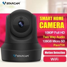 Vstarcam Full HD Wireless IP Camera CCTV WiFi Home Surveillance Security Camera System Indoor PTZ Camera baby monitor-. Wireless Home Security Systems, Security Camera System, Security Alarm, House Security, Camara Ptz, Home Camera System, Wifi, Ptz Camera, Wireless Ip Camera