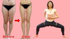 [Once a day] Get Twice Thin Thighs and To make a gap between thighs! Gap Between Thighs, Muscle Fitness, Fitness Tips, Posture Stretches, Thin Thighs, Easy At Home Workouts, Thigh Exercises, Trainer, Fett