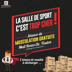 Séance de sport la semaine prochaine dans votre agence MBE #Toulon. On reçoit nos meubles on a besoin de bras ! - http://ift.tt/1HQJd81