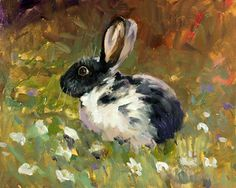 """""""Spotted Rabbit"""" by Carla Houston at the Rusty Gables Art Gallery, OKC"""