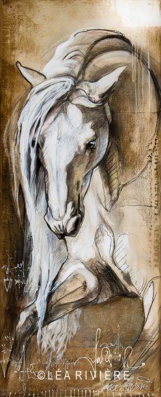 """""""Épris de liberté""""  Nouvelle toile - new painting 60x24 p. / 152x61 cm..©Léa…"""