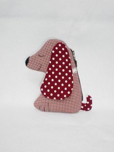 Cute Puppy Zipper Purse by MadeBySiam: Isn't this fun? Sewing Projects For Kids, Sewing For Kids, Animal Bag, Sewing To Sell, Rice Bags, Unique Purses, Pencil Bags, Dog Pattern, Small Bags