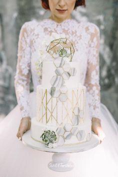 My geometry wedding cake 2 by SWEET architect - http://cakesdecor.com/cakes/289429-my-geometry-wedding-cake-2