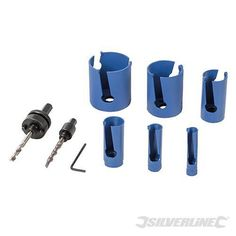 Silverline 547136 Multi Material TCT Holesaw Set 6pc