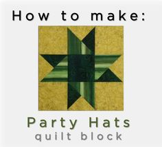 McCall's Quilting Valerie Uland and Ashley Slupe take you step-by-step through making the Party Hats Quilt Block, with tips for making and pressing three-triangle units. #video #quilting #tutorial #quiltblock
