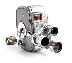 ✦ Vintage Keystone K-27 Capri Triple Turret movie camera  ✦ Circa 1950s era ; mid-century modern appeal!  ✦ Three awesome movable lenses on a