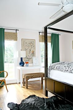 green curtains for the family room. Green IKEA Curtains For Our Bedroom - Emily A. Clark