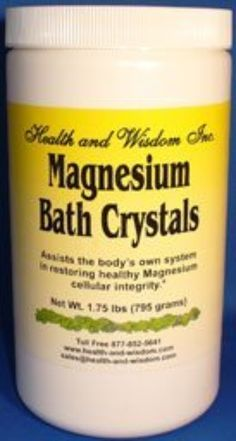 I'm learning all about Health And Wisdom Magnesium Bath Crystals Or 795 Grams at @Influenster!