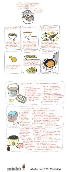 I love cooking non-rice stuff in my rice cooker. Polenta is my favorite hack. Here are more ideas: poached fruit, oatmeal & more.