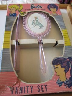 Vintage Barbie Dresser Vanity Set Brush Comb in Original Box Circa 1962 RARE | eBay