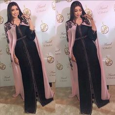 Caftan Gallery, Donia, Arab Women, Duster Coat, Sari, Womens Fashion, Instagram Posts, Jackets, Kaftans