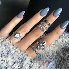 nails, rings, and blue image http://www.skullclothing.net