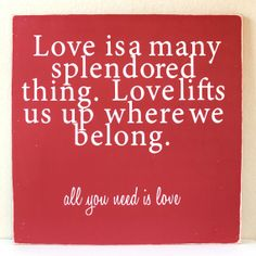 Moulin Rouge Quote Love is by PBJstories on Etsy, $115.00