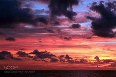Fiery sunset by Misty__Rain