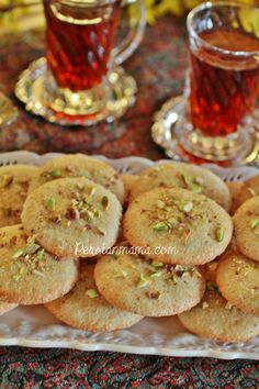 Ghorabieh (Qurabiya) is a soft and chewy almond cookie that is served in Nowruz, at weddings and most Eyds in Tabriz, Iran.  Tabriz is famous for its Ghorabieh