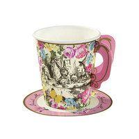 12 petites tasses thème Alice aux pays des merveilles