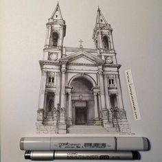 Accurate Miniature Architectural Illustrations – Fubiz Media