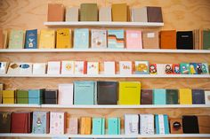 """omg this is the little store we passed on the way to wurstkutche and i was like """"this store looks cute"""" // Stationery Wall at Poketo Store"""