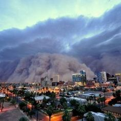 Dust Storm Roaring through Phoenix, AZ