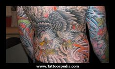 Japanese Eagle Tattoos
